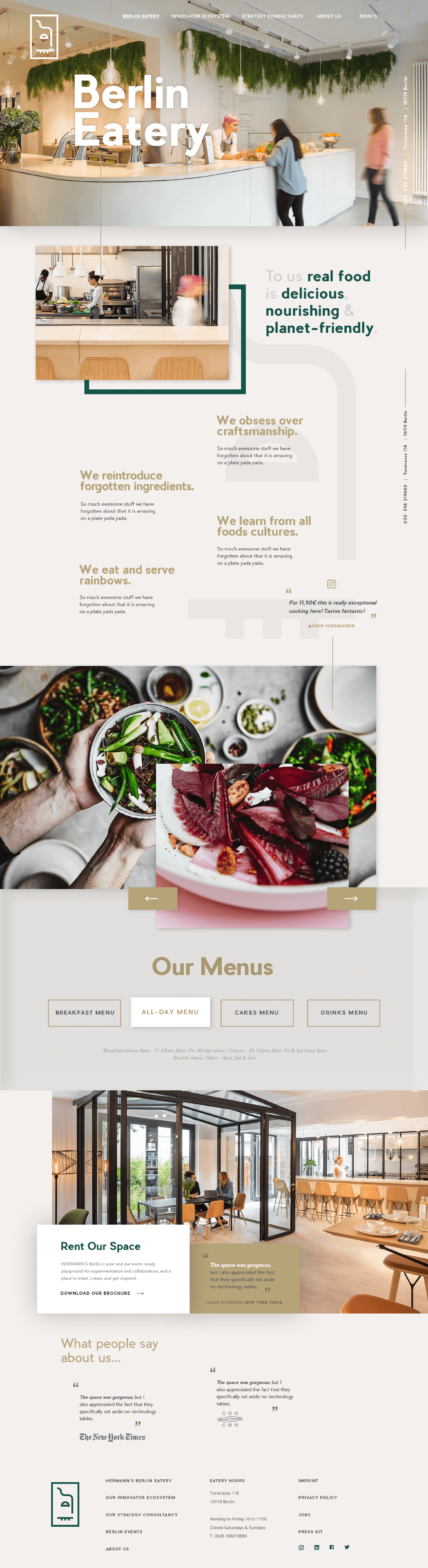 Eatery Page
